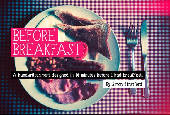 Before Breakfast typeface by It's me simon on Creative Market