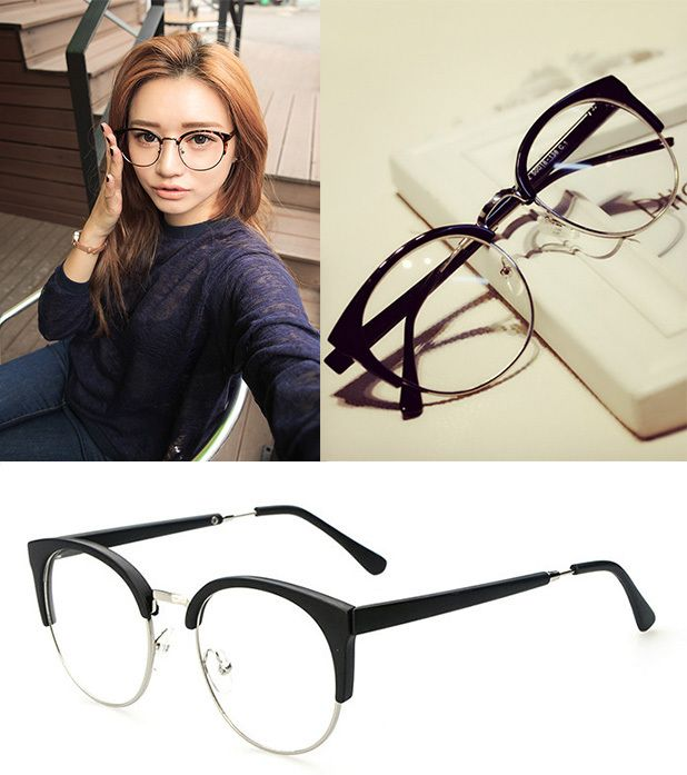 2015 Newest Fashion Brand 4 Colors Plain Glasses Polycarbonate Lenses Vintage Frame Computer Glasses for Men and Women Cat Eye