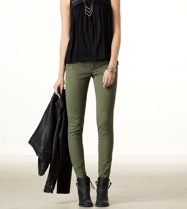 Olive skinny jeans! I would really love a pair of these with a new sweater to wear this winter and fall!