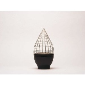 Gaia & Gino JH0102 Grid Conic Vase by Jaime Hayon. Gaia & Gino JH0102 Spanish artist/designer Jaime Hayon was born in Madrid 1974. He trained as an industrial designer in Madrid and Paris. In 1997 he began working as a researcher in Fabrica, Benetton Group's communication research center in Treviso, Italy. A year later, he was appointed, by Mr. Luciano Benetton and communication guru Oliviero Toscani, Head of the design department, where he oversaw the development of interiors for shops…