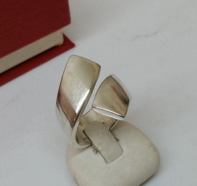 Vintage Ringe - Schöner Ring Silber 925 Wickeloptik schlicht SR179 - ein…