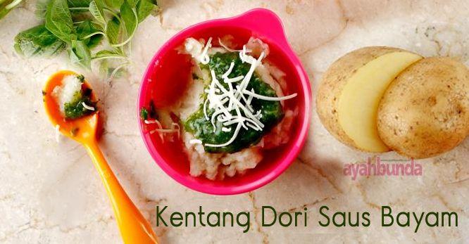 Kentang Dori Saus Bayam :: Potato Dori with Spinach Sauce :: Klik link di atas untuk mengetahui resep kentang dori saus bayam