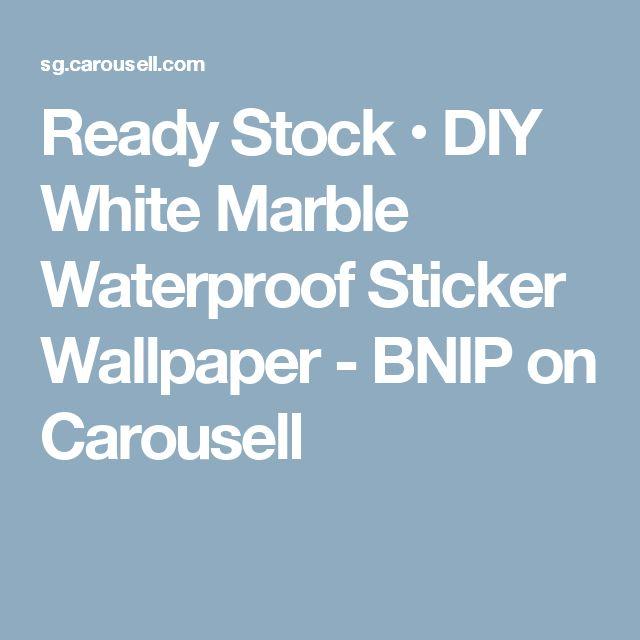 Ready Stock • DIY White Marble Waterproof Sticker Wallpaper - BNIP on Carousell