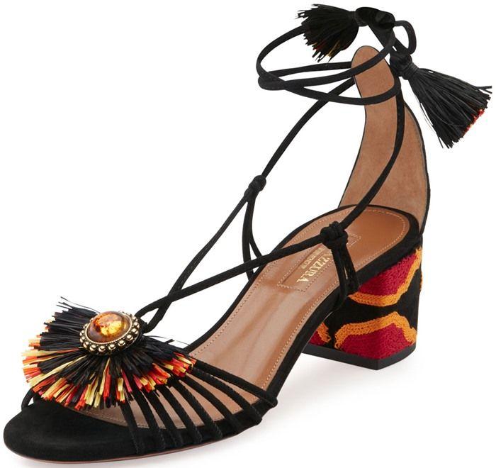 Sandales En Daim Purist - NoirAquazzura 4nIXXE8Bh