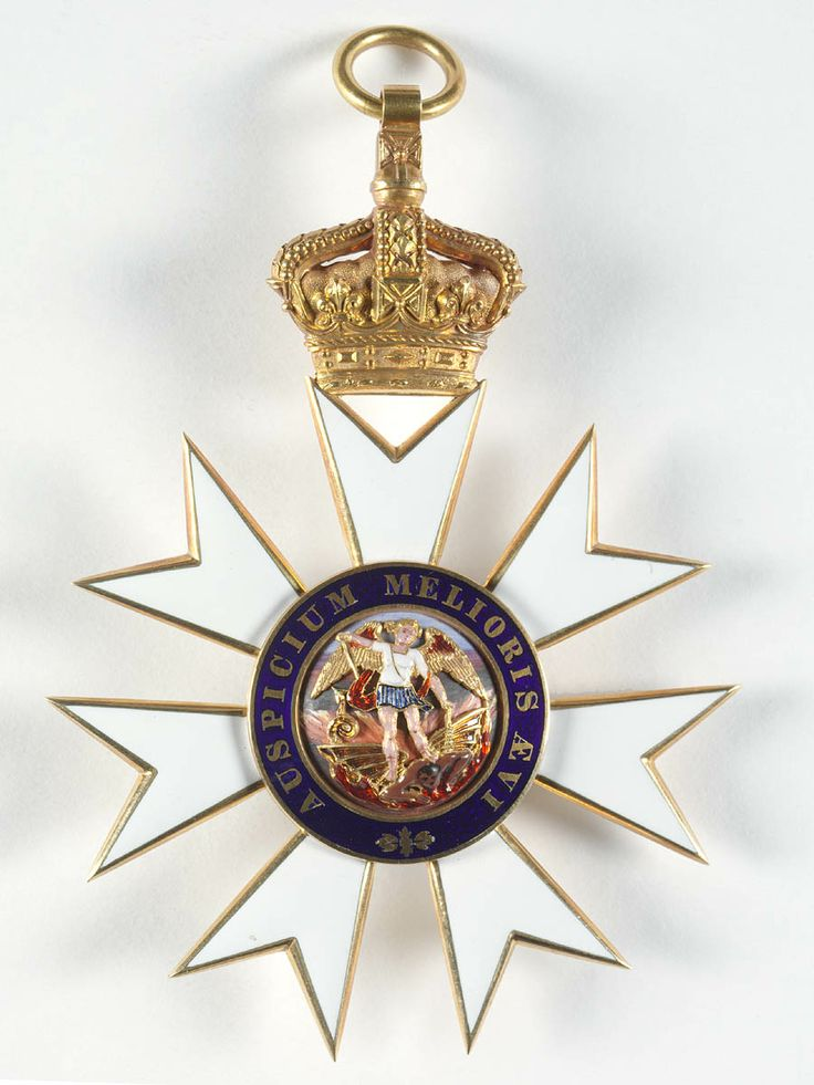 G.C.M.G.,  insignia of the Knight Grand Cross Sir Henry Parkes  (1815-1896), awarded in 1888. R. & S. Garrard & Co.; badge, 130mm x 85mm. Obv.
