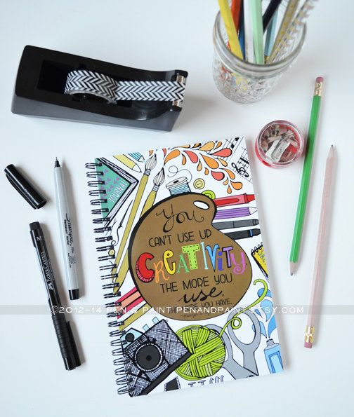 Journal Notebook Diary Spiral Notebook Dreams Goals by penandpaint, $14.50
