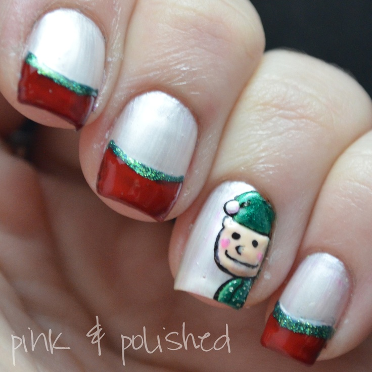 Christmas Nails Elf: 260 Best Images About Christmas Nail Designs On Pinterest
