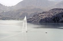 A siphon used by French scientists to de-gas Lake Nyos.