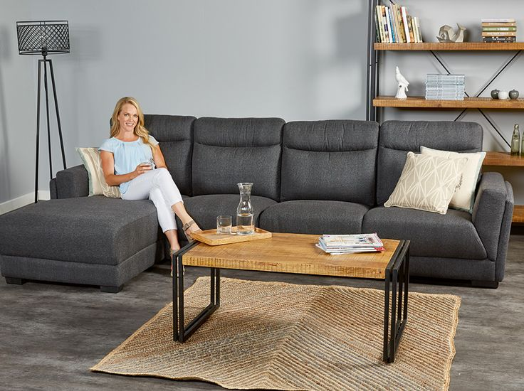 Webster Chaise in Charcoal