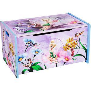 Disney TinkerBell Fairies Wooden Toy Box