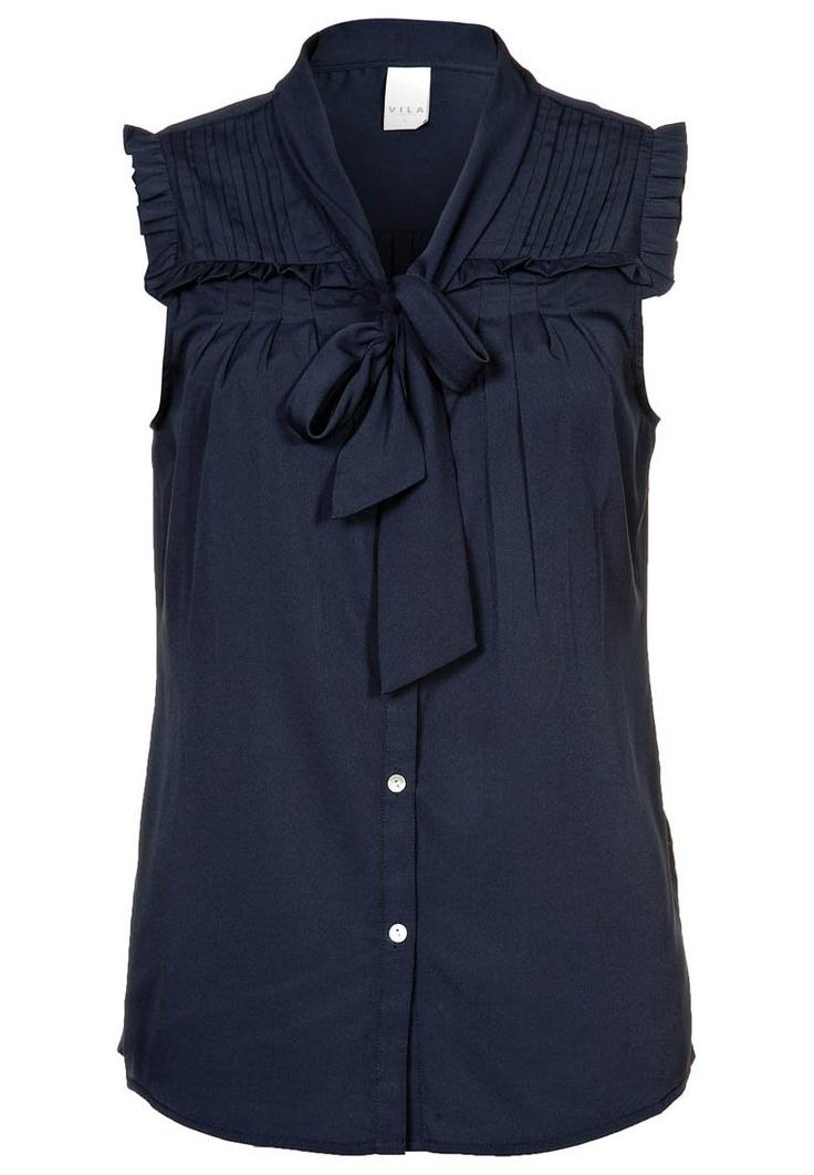 Vila short sleeve blouse blue
