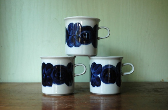 Arabia Of Finland Anemone Coffee Cup Set Designed By by JunkHouse, $38.00