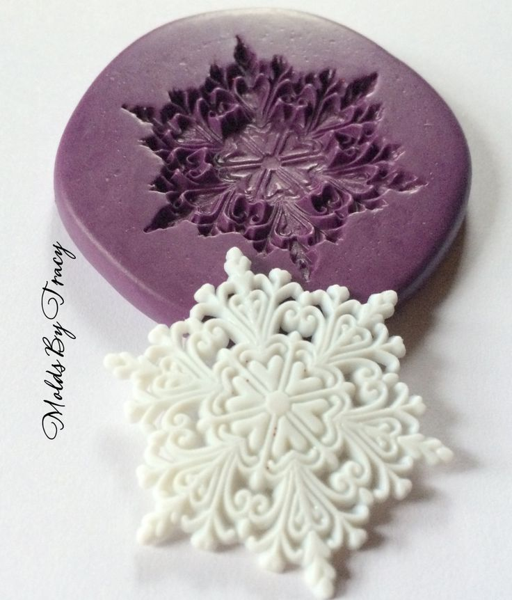 Large Lacy Snowflake Mold, Christmas Silicone Molds, Fondant Molds, Jewelry Molds, Polymer Clay Molds, Resin Molds, Winter Molds, Food Safe by ThisNThatByTracy on Etsy