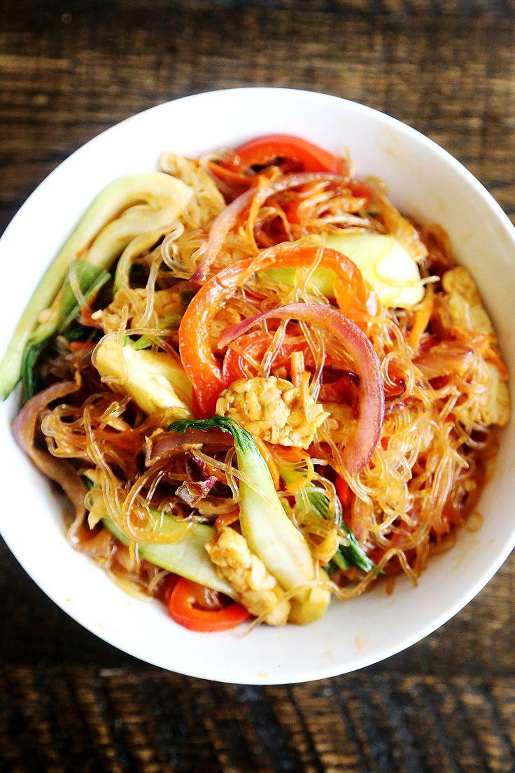 Kelp Noodles and Veggie Stir Fry - Divine Healthy Food