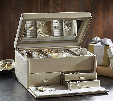 McKenna Leather Large Jewelry Box #potterybarn