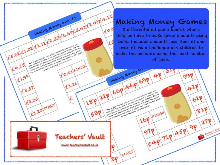 Making Money Games - KS1, KS2 Money Measurement Maths Teaching Resources, Activities and Games