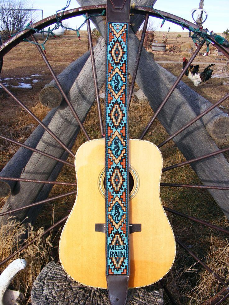 Custom Made Beaded Guitar Straps by WippcoLLC on Etsy