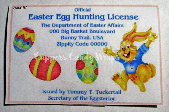 Easter Egg Hunting License Easter Basket Easter Eggs Easter