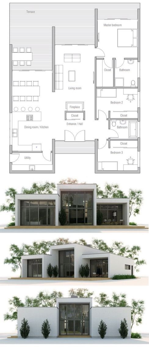 Best One Floor House Plans Ideas Only On Pinterest Ranch