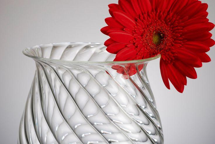 Beautiful VASE - handmade glassware > interior design  Find it on: www.gabrielaseres.ro