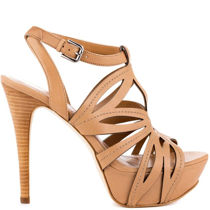 Oliane Heels Med Nat Leathernd Heels Guess Shoes Heels Zapatos