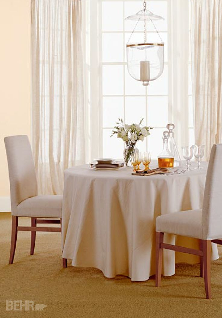 57 best stylish dining rooms images on pinterest dining for Neutral dining room paint colors