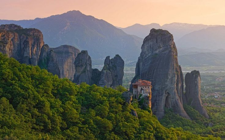 20 of the world's most remote homes, structures, and towns- Meteora – Thessaly, Greece