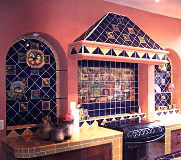 Spanish influence in a Mediterranean style kitchen.