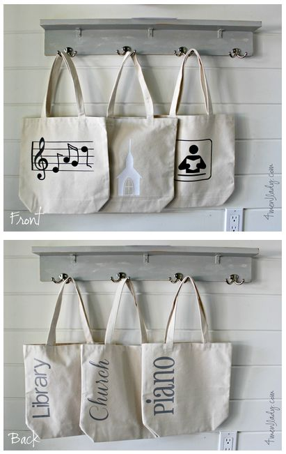 Personalized Subject Tote bags made with Cricut Explore -- 4 Men and 1 Lady. #DesignSpaceStar Round 2