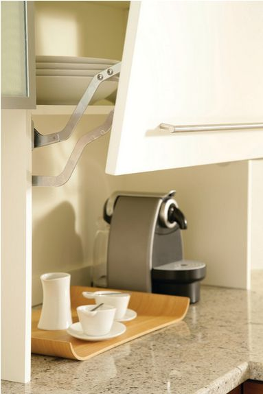Hide frequently used small appliances and accessories behind this lift up door. #Uniqueseries_byCabico