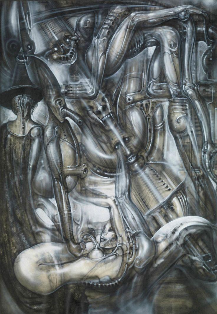 HR GIGER (1940-2014) Macht und Ohnmacht, 1987 (100 x 70 cm)