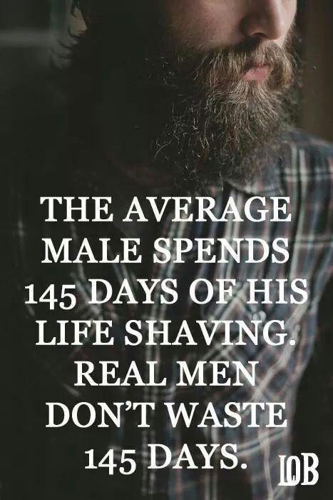 Beard  Real men Ditch razors