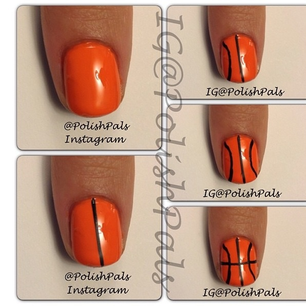 Basketball nails (it's almost that season!)