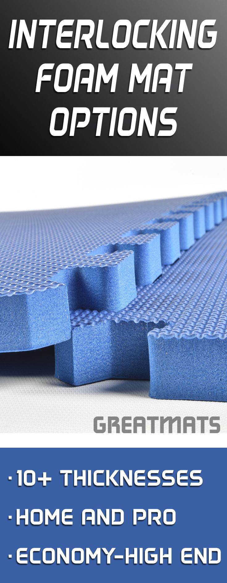 Greatmats offers an extensive selection of home and pro interlocking foam mats.