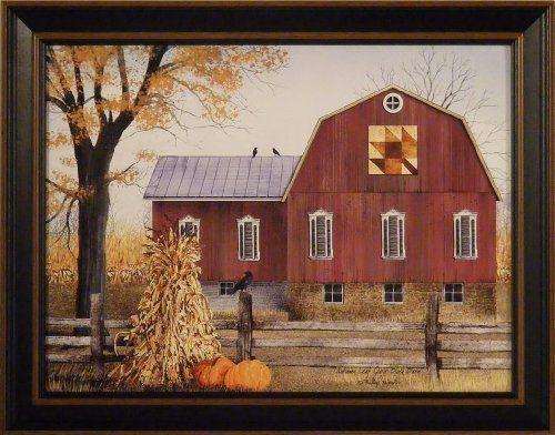 Autumn Leaf Quilt Block Barn By Billy Jacobs 15x19 Barn