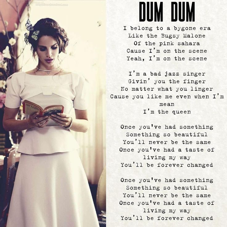 37 best lana lyric images on Pinterest | Ldr, Lyric quotes and ...