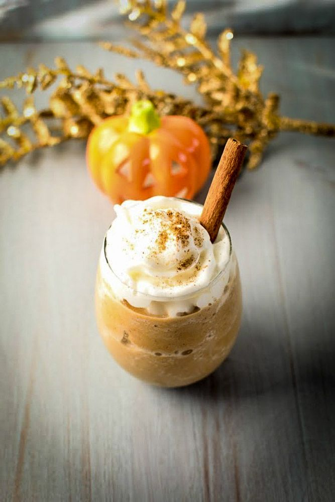 Learn how to make Starbucks inspired Pumpkin Spice Frappuccino  with only 5 ingredients .   How is Fall treating you all?? As alw...