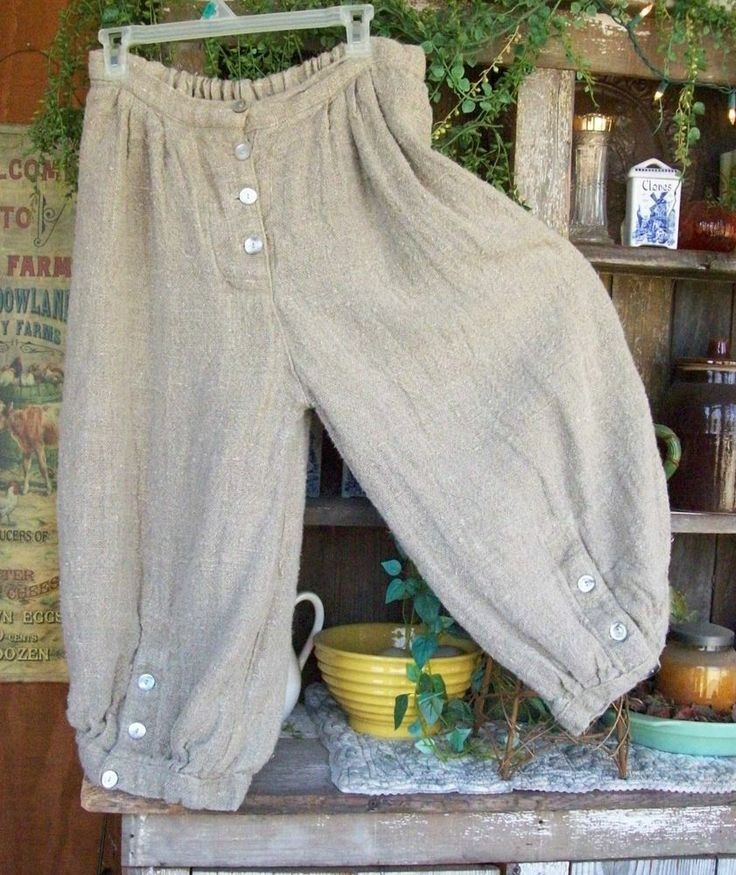 USA SHIPPING ONLY AUTHENTIC MAGNOLIA PEARL HEAVY LINEN FLAX BLOOMERS PANTS EUC