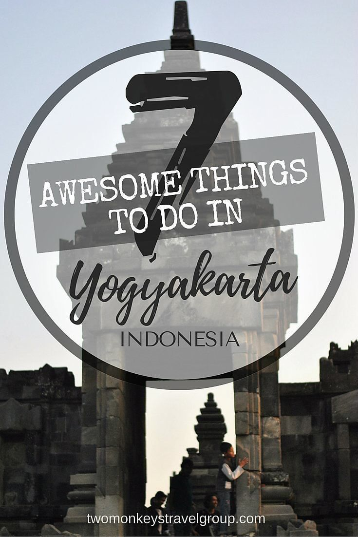 "7 Awesome Things to do in Yogyakarta, Indonesia Yogyakarta, also known as ""Yogya"" or  ""Jogja"", is the center of fine Javanese arts and culture. Well known for its traditional method of producing beautifully hand-made Batik crafts, this city is also paradi"