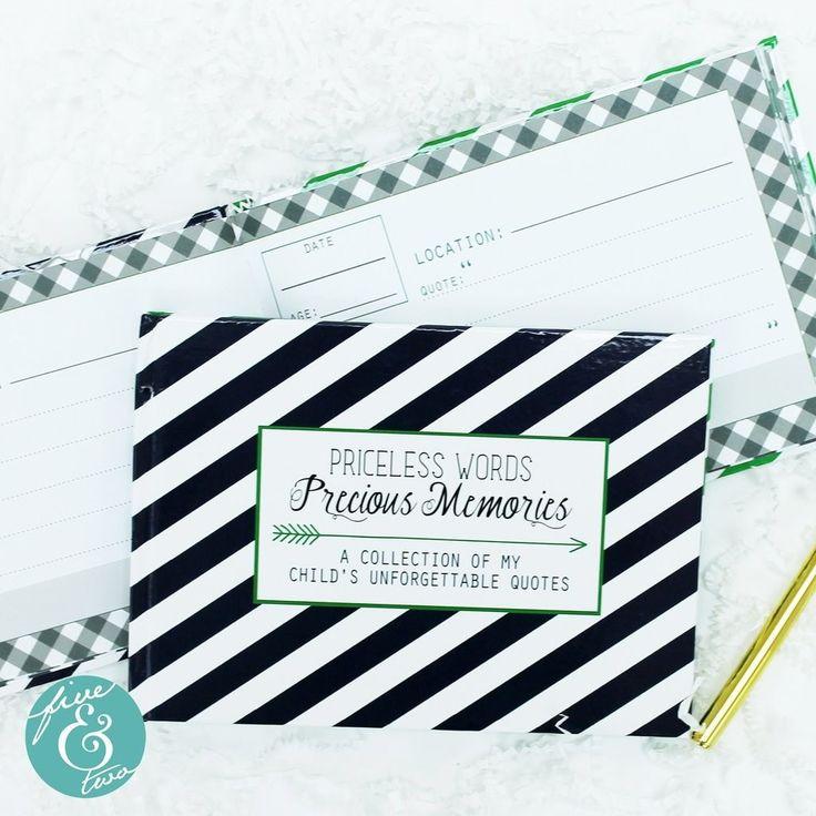 Keepsake Themed Journal Priceless Words & Precious Memories - Navy Stripe