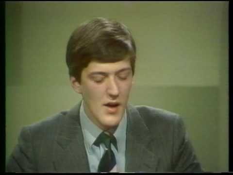 Stephen Fry on University Challenge 1980