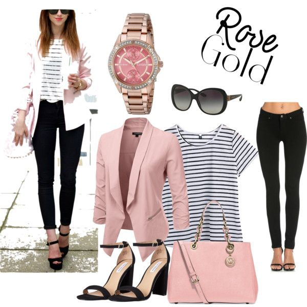 Pink and Stripes by gissy81 on Polyvore featuring Citizen