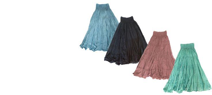 Swirl in gypsy skirts, all cotton. www.marketique.com.au