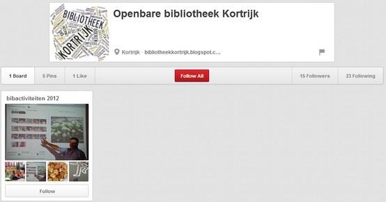 Openbare bibliotheek Kortrijk  http://pinterest.com/bibkortrijk/