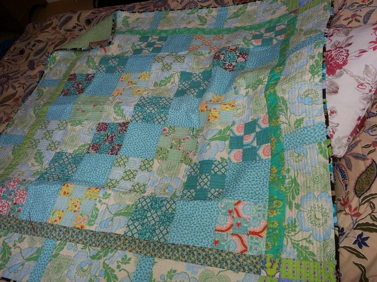 Lap quilt made with jelly roll