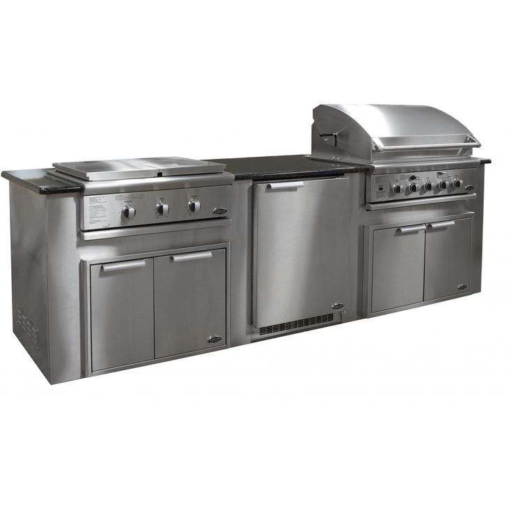 BBQ Guys Customizable Stainless Steel Outdoor Kitchen Island : Outdoor Kitchens Depot