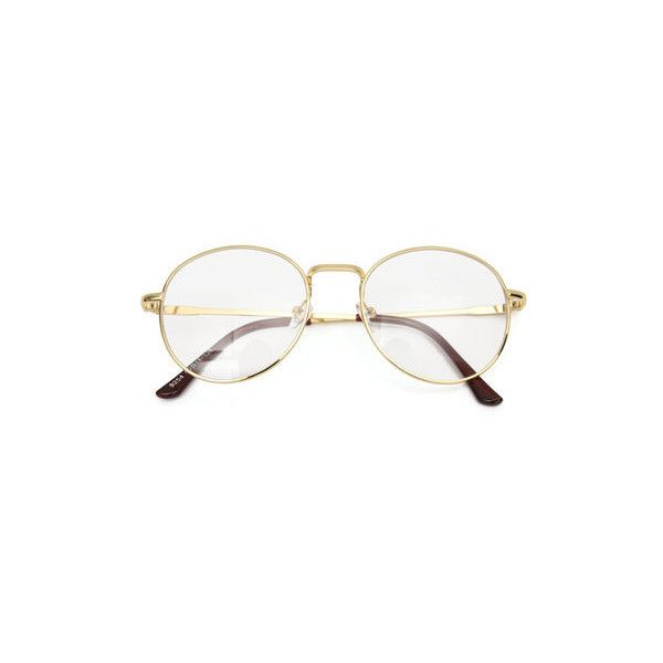 Unisex Retro Vintage Oval Eyeglasses Frame Spectacles Clear Plain... ($8.13) ❤ liked on Polyvore featuring accessories, eyewear, eyeglasses, gold, retro eyeglasses, oval glasses, oval eyeglasses, retro eye glasses and retro style eyeglasses
