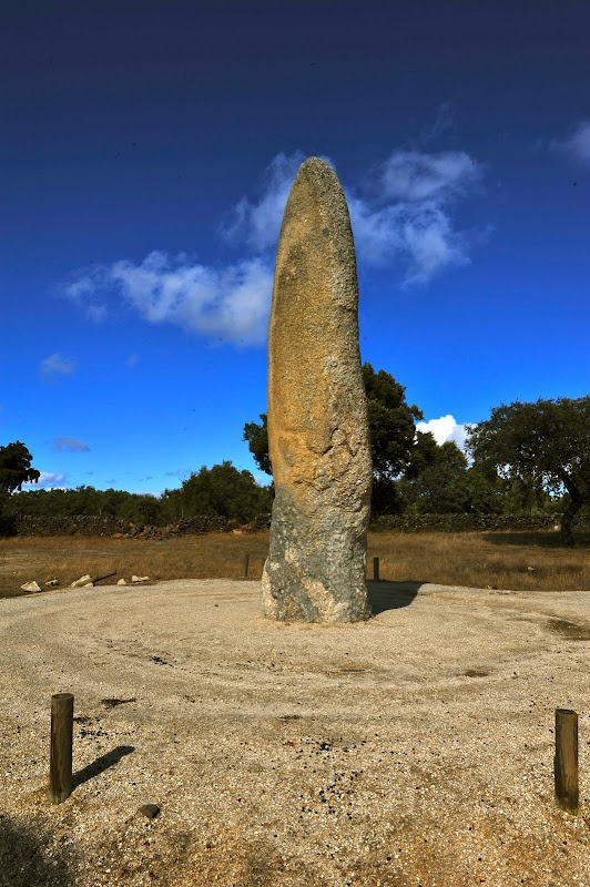 The Menhir da Meada in the Alentejo region of Portugal