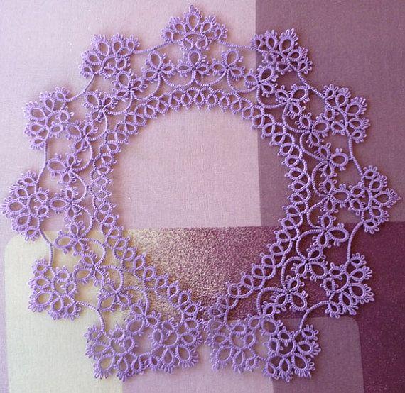 Handmade Collar  lilac collar  lace collar  feminine