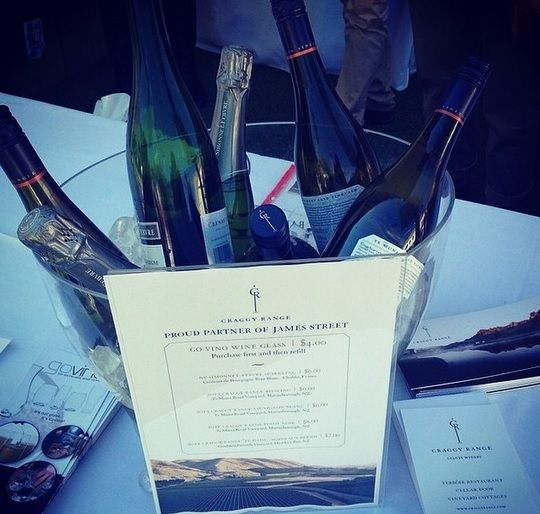 Craggy Range Tent at James Street Food and Wine Festival